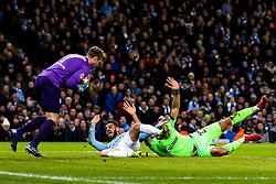 Bernardo Silva of Manchester City is fouled by Jeffrey Bruma of Schalke and a penalty is awarded - Mandatory by-line: Robbie Stephenson/JMP - 12/03/2019 - FOOTBALL - Etihad Stadium - Manchester, England - Manchester City v Schalke - UEFA Champions League, Round of 16, 2nd leg