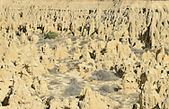 Los Aguarales. Zaragoza Province. Unique earth formations due to erosion of wind and water..
