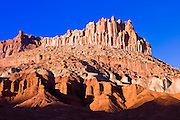 Evening light on The Castle, Capitol Reef National Park, Utah