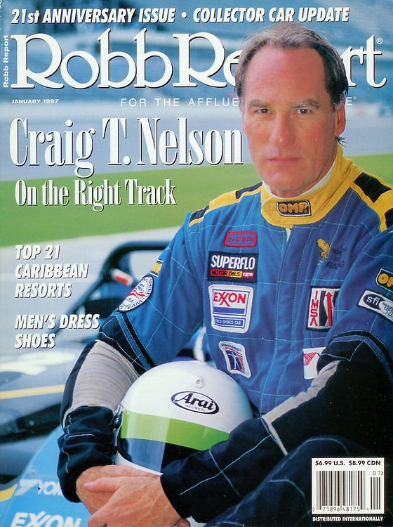 Magazine Cover - Robb Report Craig Nelson