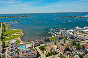 Newport, Downtown, Harbor, Rhode Island, USA