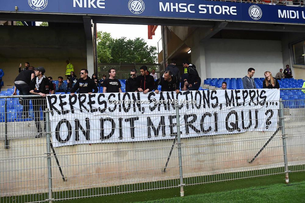 Supporters Montpellier - 02.05.2015 - Montpellier / Rennes - 35eme journee de Ligue 1<br />Photo : Alexandre Dimou / Icon Sport