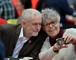 Pictured: Jeremy Corbyn meets homeless volunteers.<br /> <br /> Labour leader Jeremy Corbyn travelled to Scotland to attend a festive lunch for homeless charities and volunteers in Edinburgh on Sunday, along with Scottish Labour leader Richard Leonard.<br /> <br /> &copy; Dave Johnston / EEm