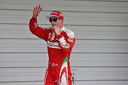 Kimi Raikkonen (FIN) Ferrari celebrates his third position in qualifying parc ferme.<br /> 08.10.2016. Formula 1 World Championship, Rd 17, Japanese Grand Prix, Suzuka, Japan, Qualifying Day.<br /> Copyright: Moy / XPB Images / action press