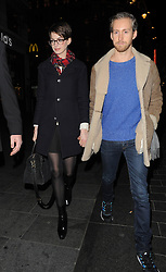 Actress Anne Hathaway and her husband Adam Shulman visit the Empire Cinema in Leicester Square, with her 'Les Miserables' co-stars. London, UK. 04/12/2012<br />BYLINE MUST READ : GOTCHAIMAGES.COM<br /><br />Copyright by © Gotcha Images Ltd. All rights reserved.<br />Usage of this image is conditional upon the acceptance <br />of Gotcha Images Ltd, terms and conditions available at<br />www.gotchaimages.com