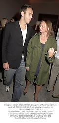 Designer STELLA MCCARTNEY, daughter of Paul McCartney and MR ALASDHAIR WILLIS, at a party in London on 29th January 2002.OWZ 317