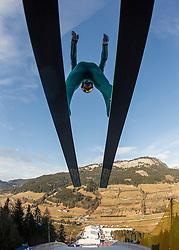 11.01.2014, Kulm, Bad Mitterndorf, AUT, FIS Ski Flug Weltcup, Probedurchgang, im Bild Marinus Kraus (GER) // Marinus Kraus (GER) during the Trial jump of FIS Ski Flying World Cup at the Kulm, Bad Mitterndorf, <br /> Austria on 2014/01/11, EXPA Pictures © 2014, PhotoCredit: EXPA/ JFK