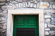 Green door, Skradin, Dalmatia, Croatia