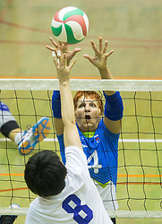Zhao Meiling of China vs Mira Jakin of Slovenia during friendly Sitting Volleyball match between National teams of Slovenia and China, on October 22, 2017 in Sempeter pri Zalcu, Slovenia. (Photo by Vid Ponikvar / Sportida)