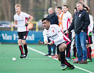 BLOEMENDAAL - Hockey - Bloemendaal-Oranje Rood 3-2. Rizwan Muhammad (Oranje-Rood) COPYRIGHT KOEN SUYK
