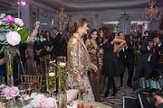YASMINE LE BON, Heather Kerzner and Marie Curie Cancer Care fundraising dinner,  Claridge's. London.