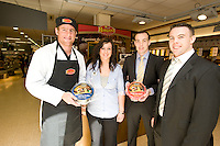Connacht Rugby's Gavin Duffy, Aisling Joyce, Joyce's Supermarket, Knocknacarra, Paul and Edward Horgan from Horgan's Delicatesses Supplies at the opening of Horgan's Delicatessen Suppliers' first ever Food Emporium at Joyce's Supermarket, Knocknacarra, Co Galway.  The initiative marks Horgan's first Food Emporium Concept Store and cements a longstanding relationship with Joyce's Supermarket Group..Photo:Andrew Downes