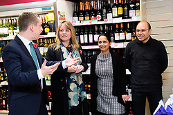 Pictured is, from left, Tom Pursglove MP talking Post Office public affairs manager Tom Purlsglove, Devyani Tailor and Biren Tailor<br /> <br /> Tom Pursglove MP has officially opened the new Post Office at the Weldon Supermarket in Weldon.<br /> <br /> Date: November 10, 2017