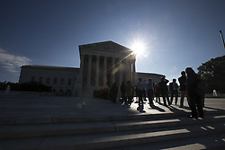 October 3, 2017 - Washington, District Of Columbia, USA - People stand in line outside the United States Supreme Court as they wait to hear oral arguments in Gill v. Whitford a case about Gerrymandering in Wisconsin. (Credit Image: © Alex Edelman via ZUMA Wire)