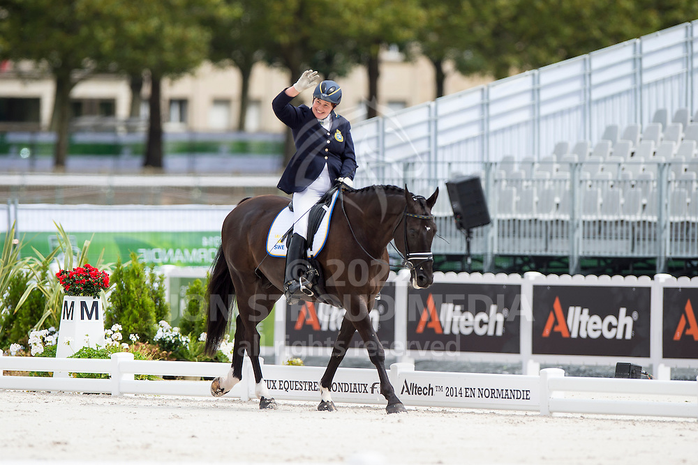 Kerstin Larsson Englund, (SWE), Black Music, - Individual Test Grade Ib Para Dressage - Alltech FEI World Equestrian Games&trade; 2014 - Normandy, France.<br /> &copy; Hippo Foto Team - Jon Stroud <br /> 25/06/14