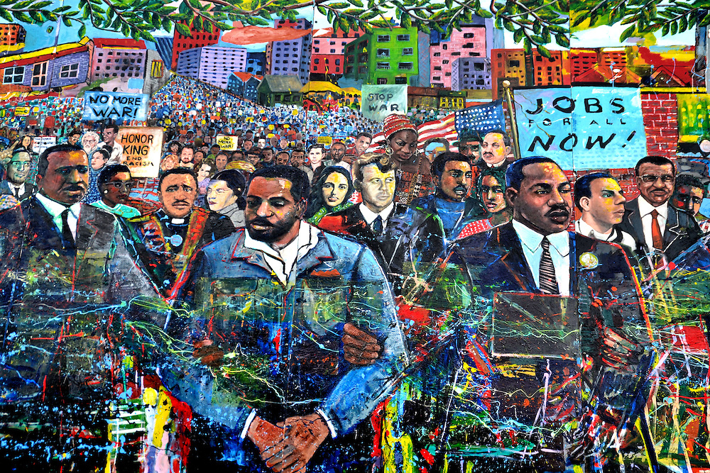 Martin Luther King Mural at MLK Visitor's Center in Atlanta, Georgia<br />
