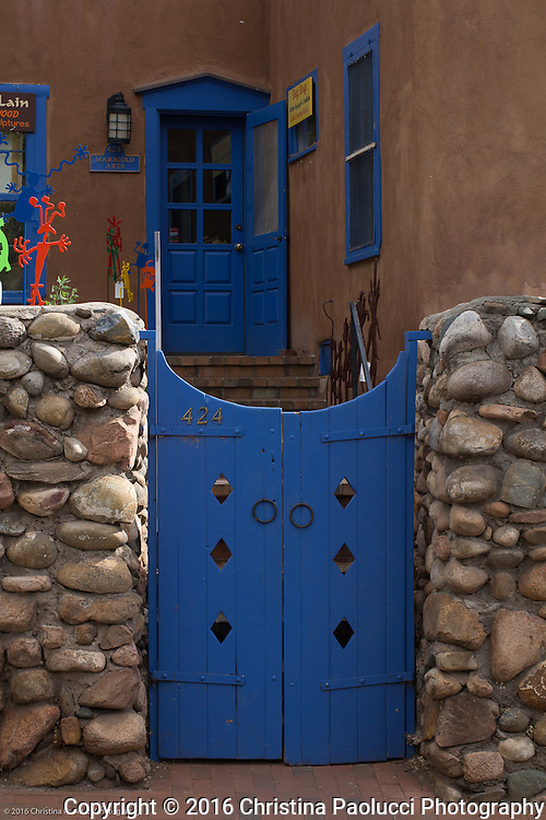Galleries along Canyon Road in Santa Fe, New Mexico (Christina Paolucci, photographer).