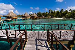 , French Polynesia - 10/23/2006 - The bungalows of Kia Ora Resort.(Photo by Sharpshooters/VWPics) *** Please Use Credit from Credit Field *** *** Please Use Credit from Credit Field ***