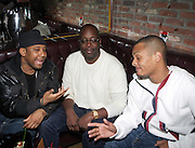 l to r: Maino, Michael Kyser and T.I. at The Vibe Magazine private reception in honor of Grammy Award winning Superstar artist and actor, T.I held at The Eldrige on February 9, 2009 in New York City