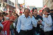 Roma 6 Settembre 2011.Manifestazione del sindacato CGIL contro la manovra del governo Berlusconi. Antonio Di Pietro.