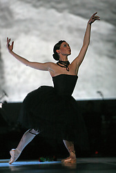 "Ballet-dancer Regina Krizaj at ""goodbye"" event of Slovenian professional sports dance couple Andrej Skufca and Katarina Venturini, named Infinity is Eternity (Neskoncnost je vecnost), on March 2, 2008, in Cankarjev dom, Ljubljana, Slovenia.  (Photo by Vid Ponikvar / Sportal Images)/ Sportida)"