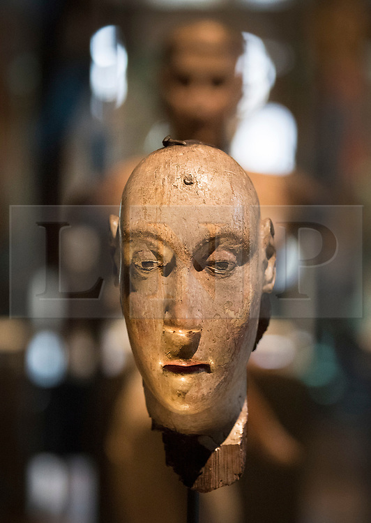 © Licensed to London News Pictures. 29/05/2018. London, UK. A funeral effigy of Anne of Bohemia, 1394, is displayed in the new Queen's Diamond Jubilee Galleries in Westminster Abbey - now open to the public for the first time. The recently finished galleries situated in 13th century triforium, 52 feet above the abbey floor, will display treasures not seen by the public before and tell the story of abbey's thousand-year history. Photo credit: Peter Macdiarmid/LNP