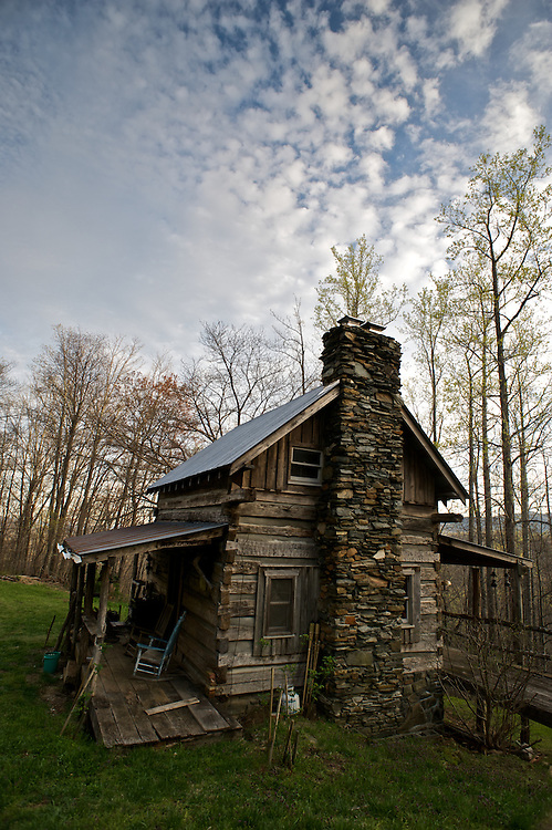 Max Woody's cabin rests in the Blue Ridge Mountains of North Carolina.  Max shares his electricity-free cabin with many of his friends, including Outward Bound groups who visit with him