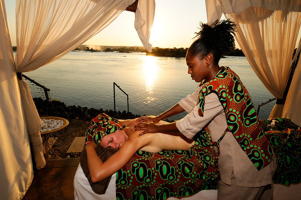 Royal Spa Massage Treatment at Zambesi River, Royal Livingstone Hotel, Livingstone, Southern Province, Zambia