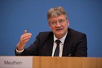 DEU, Deutschland, Germany, Berlin, 16.10.2017: Jörg Meuthen, Parteivorsitzender Alternative für Deutschland (AfD), in der Bundespressekonferenz zu den Ergebnissen der Landtagswahlen in Niedersachsen.