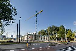 Amsterdam Zuid, Zuidas, Noord Holland, Netherlands Bouwplaats, nieuwbouw, building site, construction site