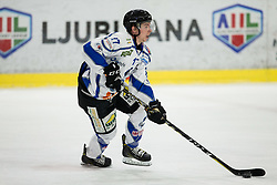Fabian Hackhofer of Broncos during ice hockey match between HK SZ Olimpija and WSV Sterzing Broncos Weihenstephan (ITA) in Round #12 of AHL - Alps Hockey League 2018/19, on October 30, 2018, in Hala Tivoli, Ljubljana, Slovenia. Photo by Vid Ponikvar / Sportida