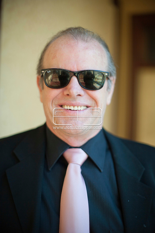 "24th February 2011. Las Vegas, Nevada.  Celebrity Impersonators from around the globe were in Las Vegas for the 20th Annual Reel Awards Show. Pictured is R.L. ""Jack"" Bullard as Jack Nicholson. Photo © John Chapple / www.johnchapple.com.."