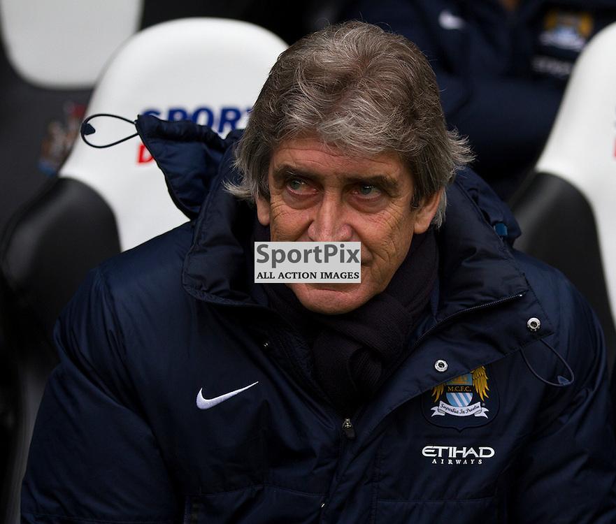 Manuel Pellegrini, Newcastle United; Manchester City ; Barclays Premiership; 13th January 2014, Manuel Pellegrini before kick off(c) Darrell Benns   StockPix.eu