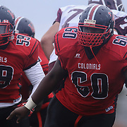 William Penn defensive tackle D'Mir Copeland (60) playing in a regular season football game between William Penn and Concord Saturday, Oct. 24, 2015 at  William Penn High School in New Castle.