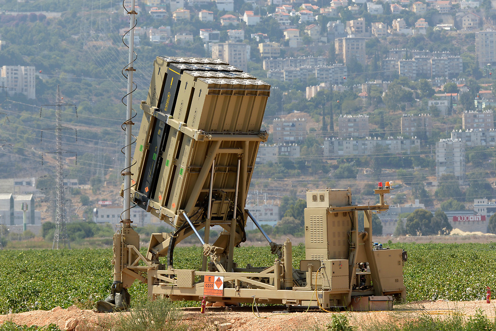 Haifa, Israel - August 30, 2013: An Israeli Army Iron Dome anti rockets system is seen in the outskirts of the  Northern city Haifa. As US preparations for attack over Syria are progressing, Israel prepares for possible missile launch from Syria. Photo by Gili Yaari