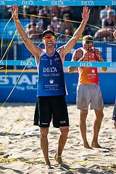 25-08-2019 NED: DELA NK Beach Volleyball, Scheveningen<br /> Last day NK Beachvolleyball / Alexander Brouwer #1 Dutch Champion Beachvolleyball 2019