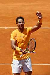 May 18, 2018 - Rome, Italy - Rafael Nadal (SPA) celebrates at Foro Italico in Rome, Italy on May 18, 2018 during Tennis ATP Internazionali d'Italia BNL quarter-finals. (Credit Image: © Matteo Ciambelli/NurPhoto via ZUMA Press)