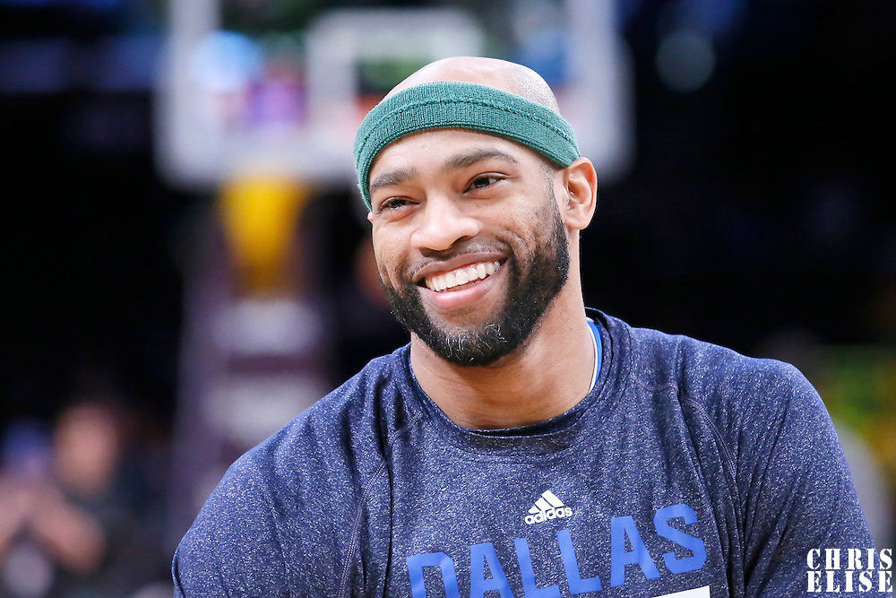 04 April 2014: Dallas Mavericks guard Vince Carter (25) is seen prior to the Dallas Mavericks 107-95 victory over the Los Angeles Lakers at the Staples Center, Los Angeles, California, USA.