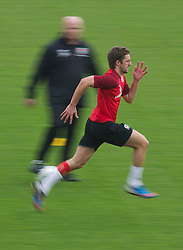 CARDIFF, WALES - Saturday, September 8, 2012: Wales' Sam Ricketts during a training session at the Vale of Glamorgan ahead of the 2014 FIFA World Cup Brazil Qualifying Group A match against Serbia. (Pic by David Rawcliffe/Propaganda)