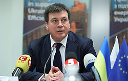 March 28, 2019 - Kyiv, Ukraine - Vice Prime Minister - Minister of Regional Development, Construction, Housing and Communal Services of Ukraine Hennadii Zubko partakes in the signing of a trilateral agreement between the IFC, the Energy Efficiency Fund and the UKRGASBANK JSB set to launch funding for Fund's projects, Kyiv, capital of Ukraine, March 28, 2019. Ukrinform. (Credit Image: © Danil Shamkin/Ukrinform via ZUMA Wire)