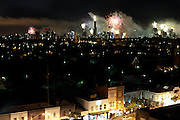 Melbourne CBD fireworks from Chapel Street South Yarra