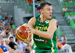 Sarunas Jasikevicius of Lithuania during friendly match before Eurobasket Lithuania 2011 between National teams of Slovenia and Lithuania, on August 24, 2011, in Arena Stozice, Ljubljana, Slovenia. (Photo by Vid Ponikvar / Sportida)