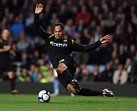 Joleon Lescott<br /> Manchester City 2009/10<br /> Aston Villa V Manchester City 05/10/09<br /> The Premier League<br /> Photo Robin Parker Fotosports International