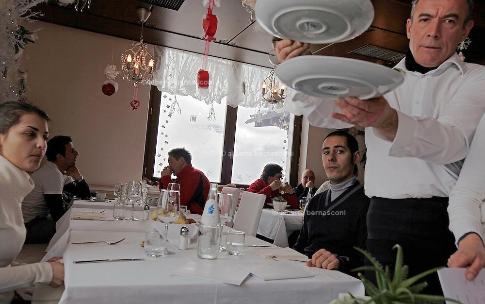 Italy, Madonna di Campiglio, Chalet FIAT, the restaurant ŕ la carte.