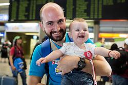 Matic Makuc of Slovenian deaf team before departure to 23rd Summer Deaflympics in Samsun, Turkey, on July 14, 2017 at Airport Joze Pucnik, Brnik, Slovenia. Photo by Vid Ponikvar / Sportida