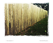 six foot fence in the sun
