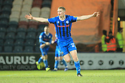 GOAL Ethan Hamilton celebrates scoring 2-1 during the EFL Sky Bet League 1 match between Rochdale and AFC Wimbledon at Spotland, Rochdale, England on 19 February 2019.