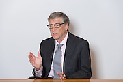 Bill Gates interviewed by 3 European journalists at ITV Studios in London. October 26th 2016. Photo by Lionel Derimais