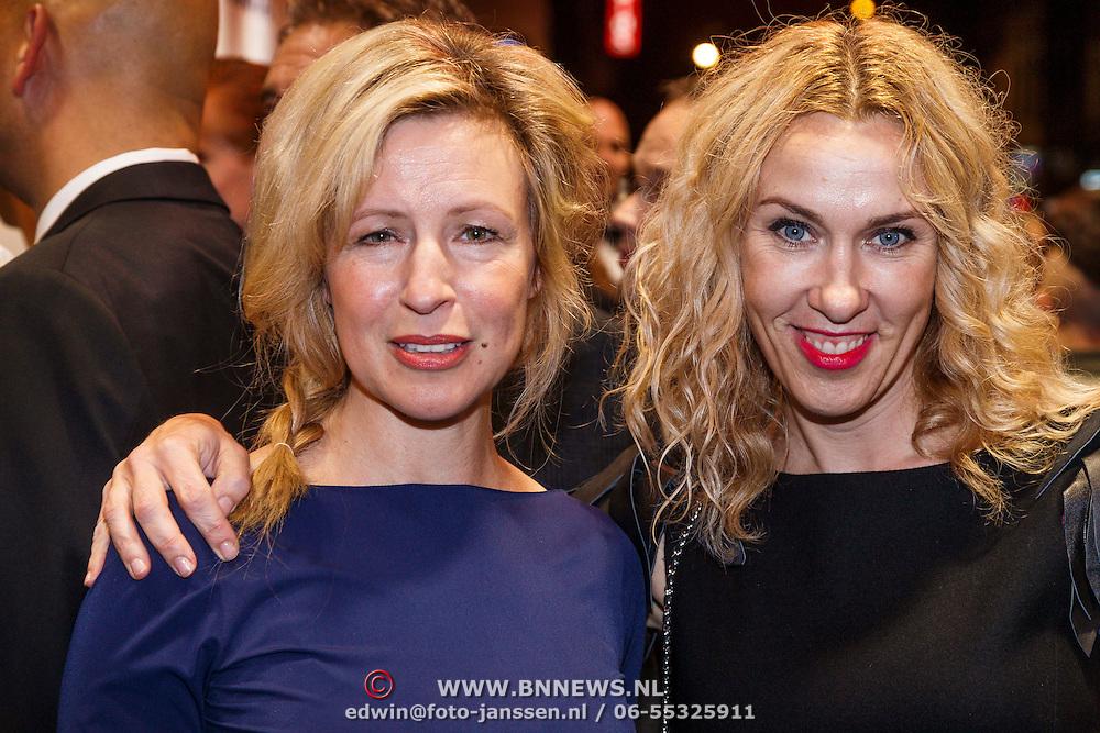 NLD/Amsterdam/20130114 - Premiere Feuten de Serie, Irma Hartog en Claudia Straatmans