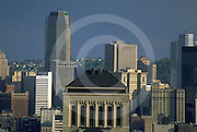 Pittsburgh Skyline, from Northside, BNY Mellon Center, PA